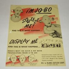 1950's JO-BO Novelty Squeeze Toy Sales Sheet