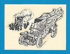 "VINTAGE ORIGINAL 1963 RAD ""SURF'S UP"" SAFARI KOOKMOBILE DECAL ART MICHAEL DORMER"