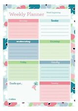 A4 Collins Blossom Weekly Desk Pad Planner Contains 60 Sheets Weekly View