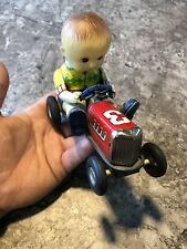 Rare Vintage Racer Tin Toy Japan Friction No 3 Rat Rod Works Car Kid