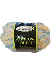 Sensations rainbow boucle with shimmer yarn 10.6 oz multi partial. 1 skein.