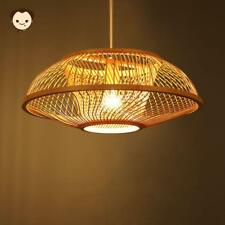 Bamboo Wicker Rattan Shade Pendant Light Fixture Ceiling Lamp Dining Table Room