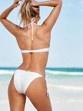 Victoria's Secret White Daisy Lace Teeny Bikini Size M - Brand New