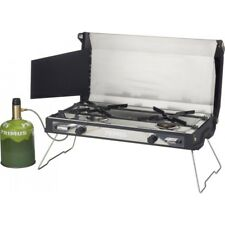 Primus Tupike Compact Two-Burner Gas Camping Stove with Griddle Plate