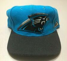 Vintage 90s Carolina Panthers NFL Apex One BLOCKHEAD Adjustable SnapBack Hat Cap