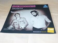 LES INNOCENTS - MANDARINE !!!!!!!FRENCH RECORD STORE PROMO ADV / DISPLAY