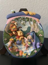 "3D Bradford Exchange Winnie The Pooh Plate ""Pooh'S Hunnypot Adventures"""
