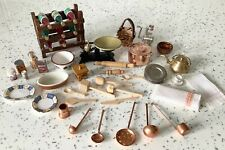 Dolls house miniature 1:12 mixed lot of kitchen accessories