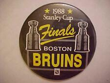 BOSTON BRUINS 1988 Stanley Cup FINALS PINBACK BUTTON mint Vintage
