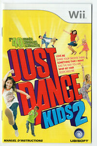 Just Dance Kids 2 Nintendo Wii French Instruction Manual Only