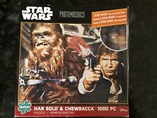 Star Wars PHOTOMOSAICS Han Solo & Chewbacca 1000Pc Puzzle Buffalo Games Sealed