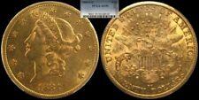 1884-CC $20 Gold Liberty Double Eagle NGC Graded PCGS AU 55