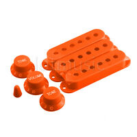 Orange replacment Strat Covers and Knobs Set -3 Covers 1 Vol, 2 tones,Switch Tip