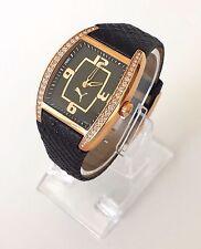 Puma Damen Uhr schwarz rosé gold Steine edel fein Kunststoff Armband PU101062001