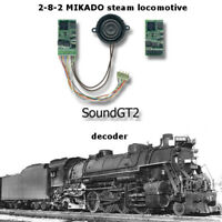 2-8-2 Mikado steam  SoundGT2.1 DCC decoder for Athean Bachmann, Mantua IHC brass