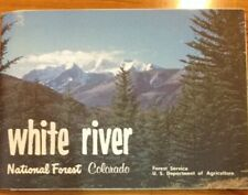 VTG RARE 1974 White River National Forest Map Large Colorado USDA Double Side