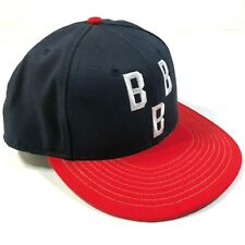 Birmingham Black Barons Negro League Fitted Hat Cap Size 7 Navy Blue Red New