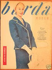 Burda Moden 3 / 1958 mit 2 Schnittbogen Modezeitschrift 50er Jahre
