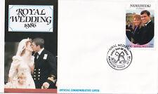 (21275) Nukufetau-Tuvalu FDC Prince Andrew Fergie Royal Wedding 23 July 1986