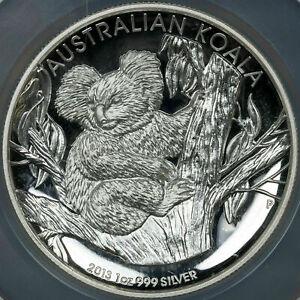 2013-P AUSTRALIA KOALA 1 DOLLAR HIGH RELIEF NGC PF 70 ULTRA CAMEO 1OZ SILVER
