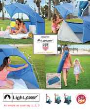 Lightspeed Pop Up Pole Beach Tent 4 Person Outdoor Fishing Camping Quick Shelter