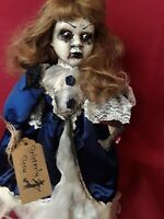 """Sinisterly Sissy's 'Desiree' undead,Spooky,Creepy,Haunted, Gothic, 18"""" w/stand"""