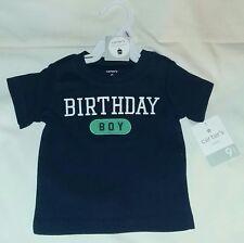 "New Carter's 9 Month Baby Boy Short-Sleeve ""Birthday Boy"" T-Shirt Top-Navy"