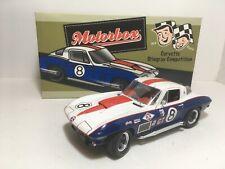 EXOTO MOTORBOX 1:18 1967 CHEVROLET CORVETTE STINGRAY COMPETITION # 8 MIB
