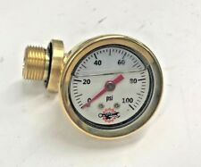 HONDA CB750 OIL PRESSURE GAUGE chopper bobber cafe cb 750 sohc brass white 100