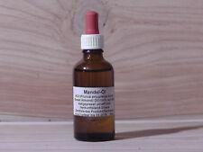 50 ml reines Mandelöl kaltgepresst unraffiniert 100% Bio Zertifiziert aus Ghana