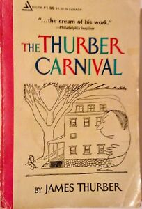 James Thurber, The Thurber Carnival, 1945 paperback humor illustrated VG rare