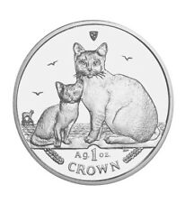 2008 Isle of Man Burmilla Cat Coin 1 oz Silver Proof with Box & Coa