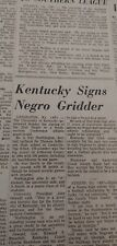 Dec 20, 1965 Newspaper Page #7790- Kentucky Signs African-American Athlete