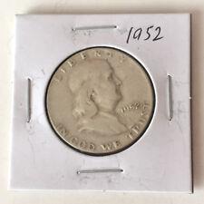 1952 FRANKLIN HALF DOLLAR US SILVER COIN Lot 48P