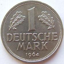 TOP! 1 DM 1964 J in BANKFRISCH / STEMPELGLANZ SELTEN !!!