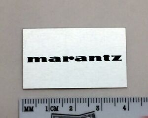 Marantz 6300 Turntable Dust Cover Badge Logo Silver Aluminum Free Shipping