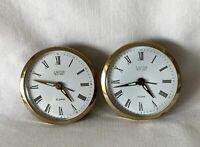 PAIR Identical LANDEX Royal Craft Wind Up Alarm Clocks - NO CASES Just Movements