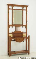ANTIK! Garderobe restauriert Jugendstil um 1915 Eiche massiv Standgarderobe