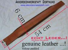 6 x 54 cm, Akkordeon (Leder) Bassgurt, Riemen,      accordion  bass belt, strap
