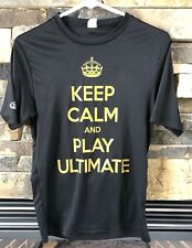 Men's Short Sleeve T-Shirt Disk Store Black KEEP CALM and Play Ultimate Sz XS