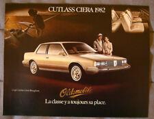OLDSMOBILE CIERA 1982 dealer brochure - French - Canadian Market