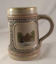 Gerz Beer Stein WEST GERMANY Heidelberg TRAVEL SCENES Vintage Stoneware Mug