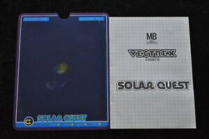Solar Quest Overlay And Manual Vectrex