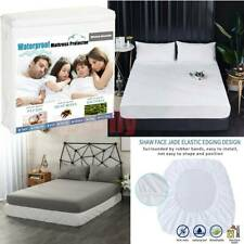 Mattress Protector Waterproof Hypoallergenic Breathable Fitted Bed Cover 6 Sizes
