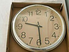 LINDEN QUARTZ WALL CLOCK Classroom/Office/Home Decoration Vintage Brand New