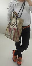 CHANEL Canvas TOTE  Graffiti Bag Shopper