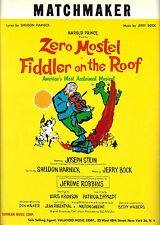 "Zero Mostel ""FIDDLER ON THE ROOF"" Joseph Stein / Bock & Harnick 1964 Sheet Music"