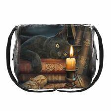 Witching Hour Messenger Shoulder Bag By Lisa Parker, Fantasy Cat Witch Gift
