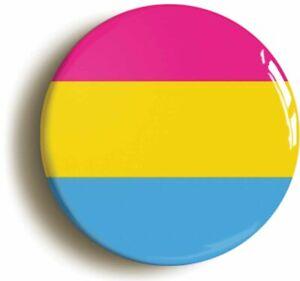 PANSEXUAL FLAG LGBT GAY PRIDE BADGE BUTTON PIN