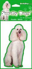 2 x Poodle White (b) Fragrant Air Freshener